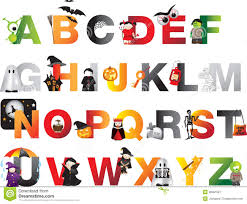 halloween alphabet royalty free stock photography image 38381987