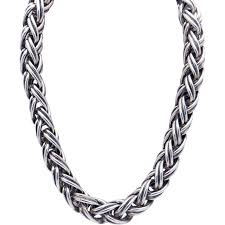 silver chain choker necklace images Tiffany co sterling silver woven link chain choker necklace jpg