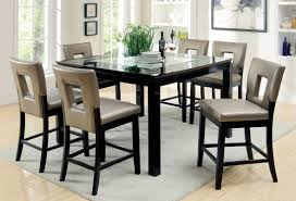 counter dining chairs hokku designs vanderbilte 9 piece counter height dining set