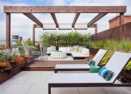 rooftop deck with pergola transitional deck patio