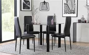 Grey Dining Table Chairs Square Dining Tables Chairs Sets Furniture Choice Inside Black