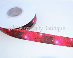 galaxy ribbon galaxy print ribbon etsy