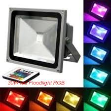 outdoor landscape light garden wall sport light 30w rgb color