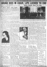electrocuted prisoner spirit halloween lindbergh baby kidnapper dies by electric chair in 1936 ny daily