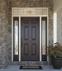 Fiberglass Exterior Doors With Sidelights Versatile Durable Fiberglass Front Doors With Decorative Glass