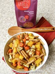 Modern Table Meals by Meatless Monday Penne Pasta With Roasted Vegetables And Hubbard