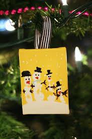 fingerprint snowman ornament that s what che said