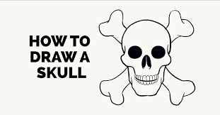 how to draw a skull by tutorial easy drawing guides