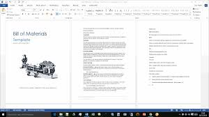 bill of materials template technical writing tips