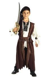 boys caribbean pirate jack sparrow long john silver fancy dress
