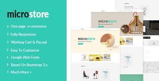 microstore one page multi purpose ecommerce templates by lovely theme