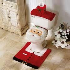 Toilet Mat Sea World Design 3 Piece Bathroom Carpet Pedestal Lid Mat Toilet