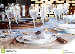 Beautiful Table Settings Beautiful Table Setting With Crystal Glasses Stock Images Image