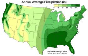 Northeast Usa Map by Map Of The Wettest Places In The Usa