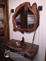 wood slab rustic bathroom vanity this unique floating vanity