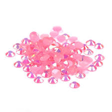 nizi jewelry pink ab color resin rhinestones for nails art