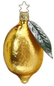 luscious lemon ornament by inge glas of germany christmas