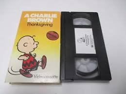 a brown thanksgiving vhs special paper slip cover