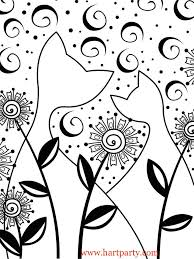 glow cats traceable and coloring page for the art sherpa as seen