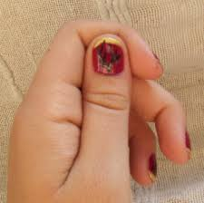 tutorial golden leaves furry fury nail art