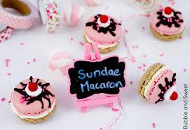bubble and sweet ice cream sundae macarons