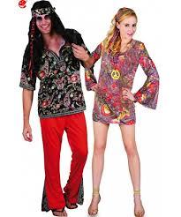 foto hippie figli dei fiori coppia di costumi adulto anni 70 psichedelici figli dei fiori