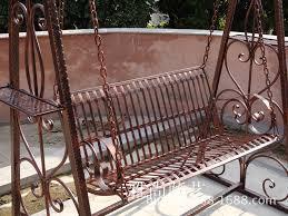 iron swing hanging baskets balcony patio garden swing chiaki