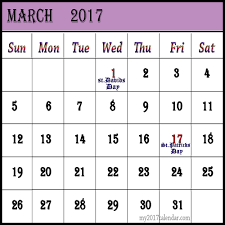 march 2017 calendar with holidays uk printable monthly