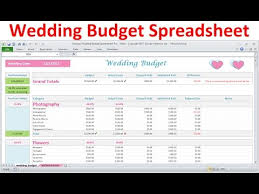 Wedding Budget Wedding Budget Spreadsheet Simple Excel Wedding Budget Planner