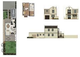 row home plans kelderhof country row house