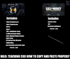 Call Of Duty Meme - halo vs call of duty meme by turbofurby on deviantart