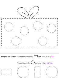 shape recognition worksheet circles and rectangles