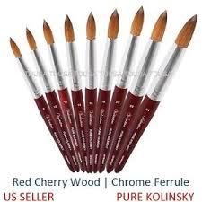 tdusa kolinsky acrylic nail brush round wood handle 8 10 12 14