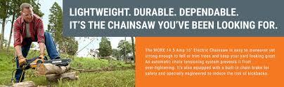 amazon com worx wg303 1 16 inch 14 5 amp electric chainsaw with