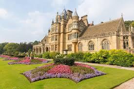 beautiful flower gardens tyntesfield house near bristol england uk