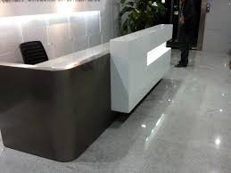 hotel curved marble reception desk counterqt3000 table top is