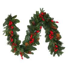 shop holiday living 7 in x 6 ft magnolia artificial christmas