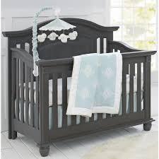 Bertini Change Table by Oxford Baby London Lane 4 In 1 Convertible Crib Arctic Grey