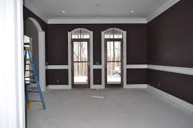 eggplant brown paint color loving this layout for the master