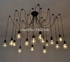 Diy Chandelier Lamp Black Spider Chandelier Lamp Vintage Retro Pendant Lamps E27 E26