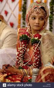 bridal garland south asian indian woman in bridal makeup jewellery garland