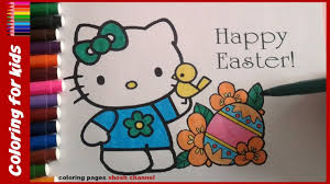 hello kitty happy easter coloring pages from coloring pages shosh