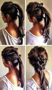 cute hairstyles you can do in 5 minutes thread together three ponytails quick hairstyles 21st and ponytail