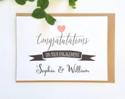 Congratulations On Engagement Card Engagement Card Etsy