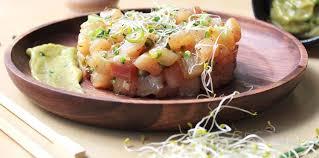 cuisine espadon tartare d espadon et mayonnaise wasabi recette sur cuisine actuelle