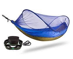 fivejoy pop up mosquito net cing hammock with tree straps and