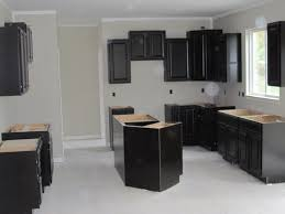 gray kitchen with espresso cabinets kitchen decoration