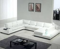 Top Grain Leather Sectional Sofa White Sectional Leather Sofa Modern U2013 Knowbox Co