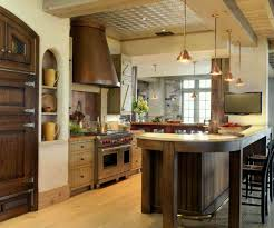 kitchen room rectangle brown lacquer oak wood kitchen island