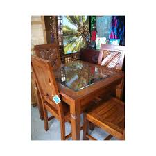 Carved Dining Table And Chairs Bali Carved Side Chair At Elementfinefurniture Made Solid